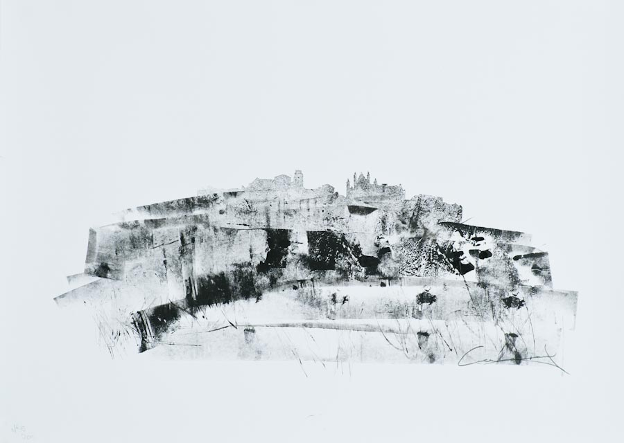 Orvieto Panorama I, 2011, ink on paper by Victor Greenaway