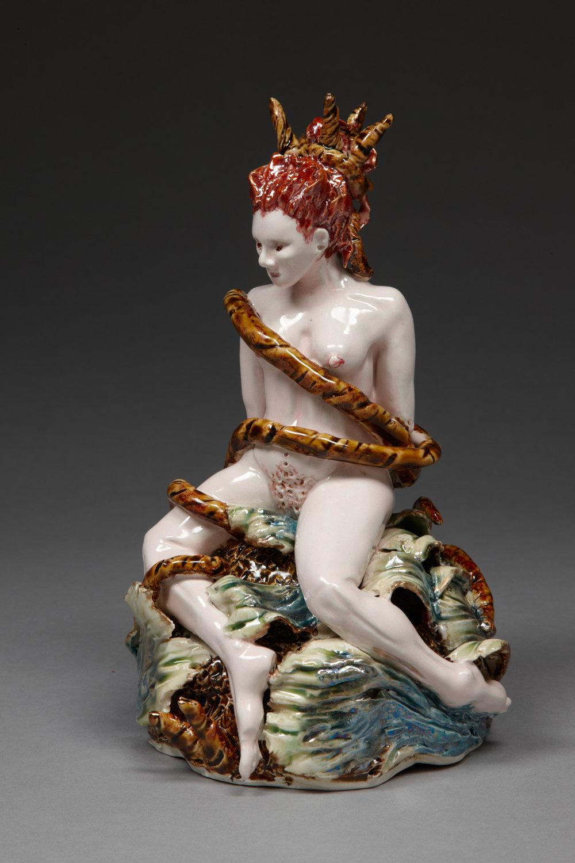 Bound, 2010, stoneware, glaze, lustre, H 21cm x W 12cm.jpg