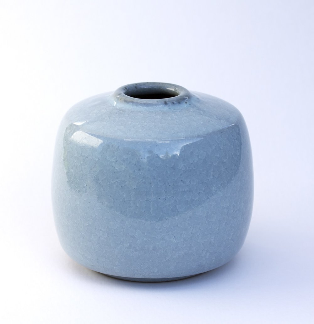 Vase Series, fishscale glaze, varying sizes.jpg