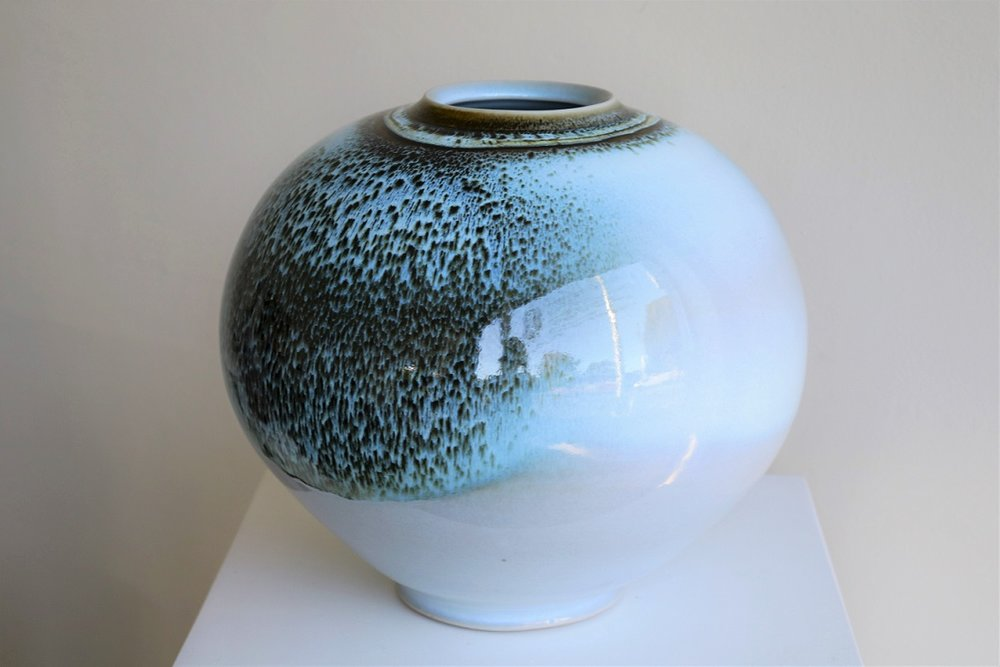 Arnaud Barraud,  Large Vase,  stoneware, chun and tenmoku glazes AVAILABLE