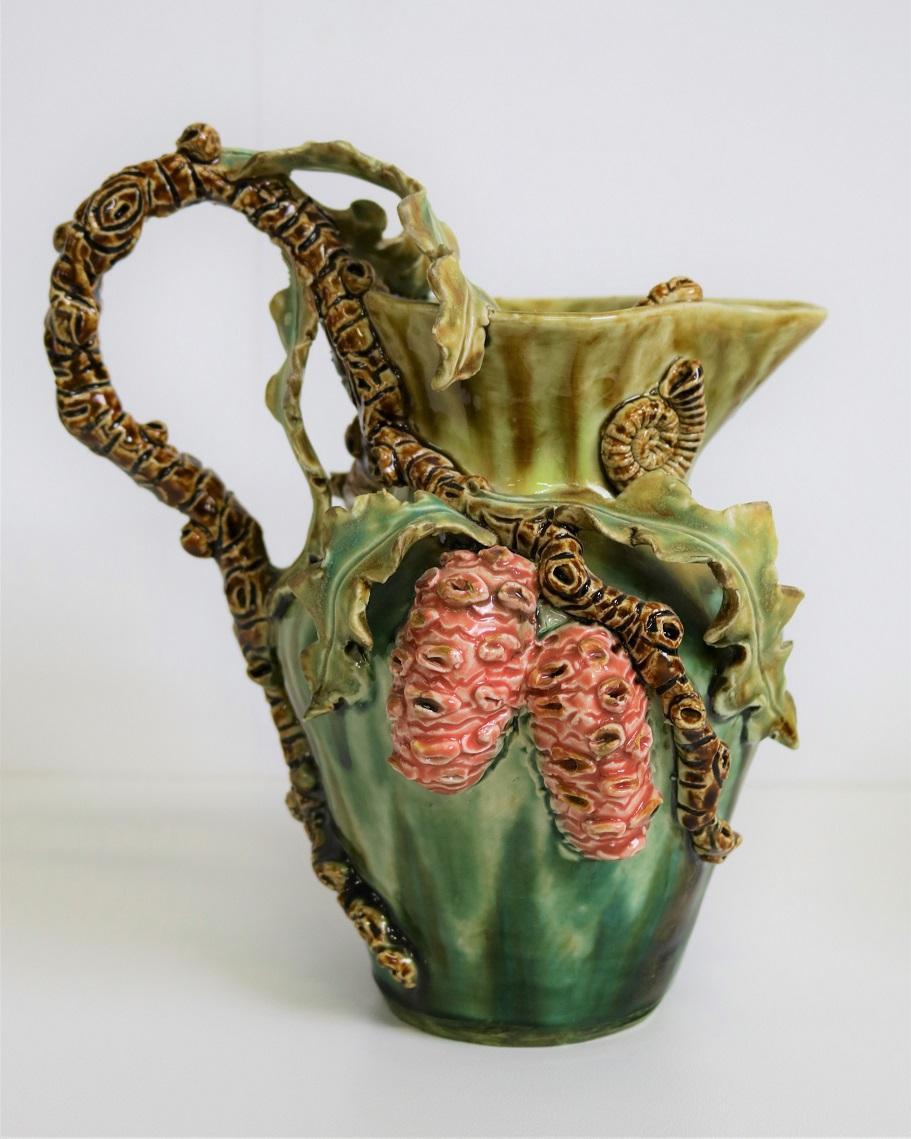 Banksia Jug, 2008, stoneware, glaze, H30 x w21 x D17cm AVAILABLE