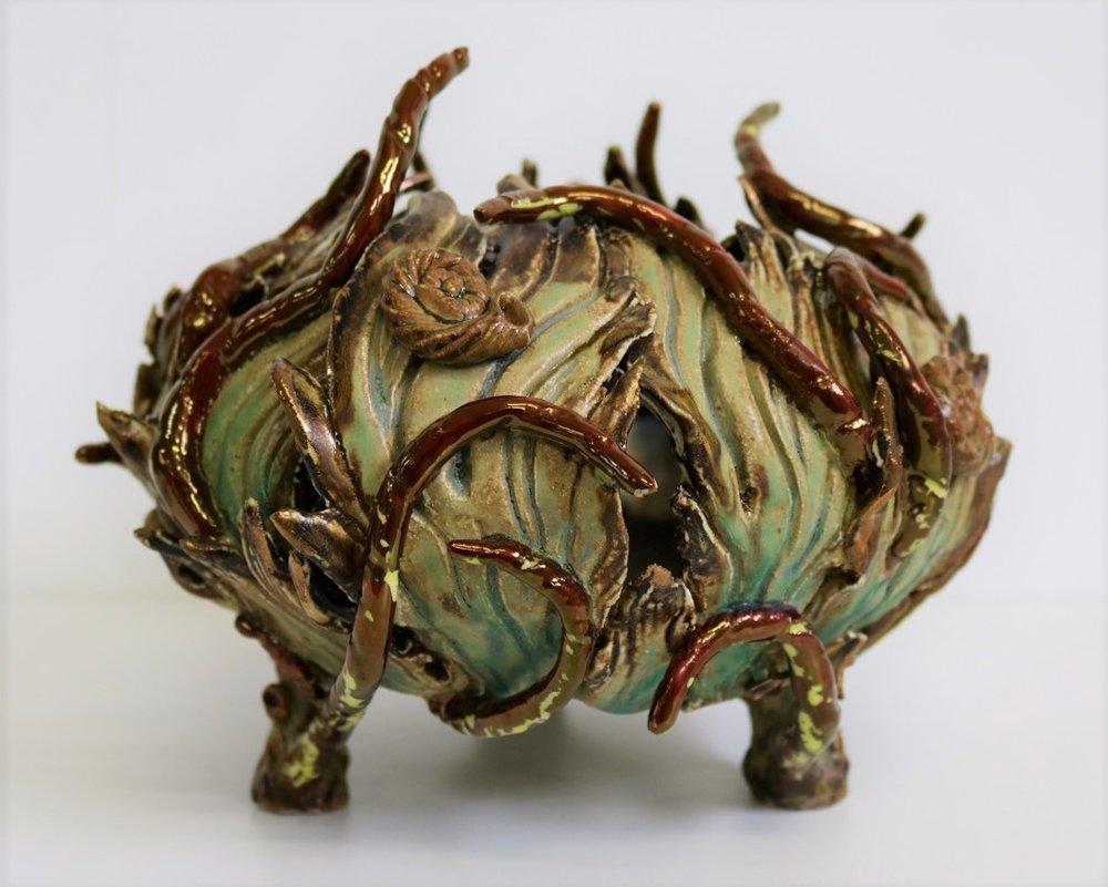 Volcano Bowl, 2008, stoneware, glaze, lustre, H19 x W23 x D23cm AVAILABLE