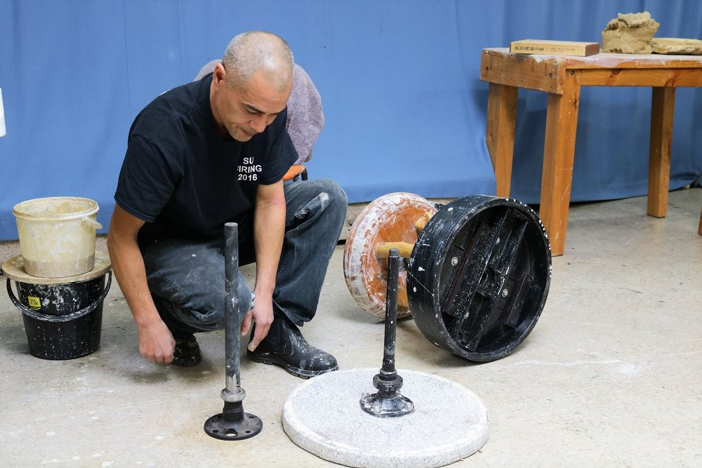 Kirk Winter, Onggi Wheel Workshop, Skepsi @ Malvern July 2018