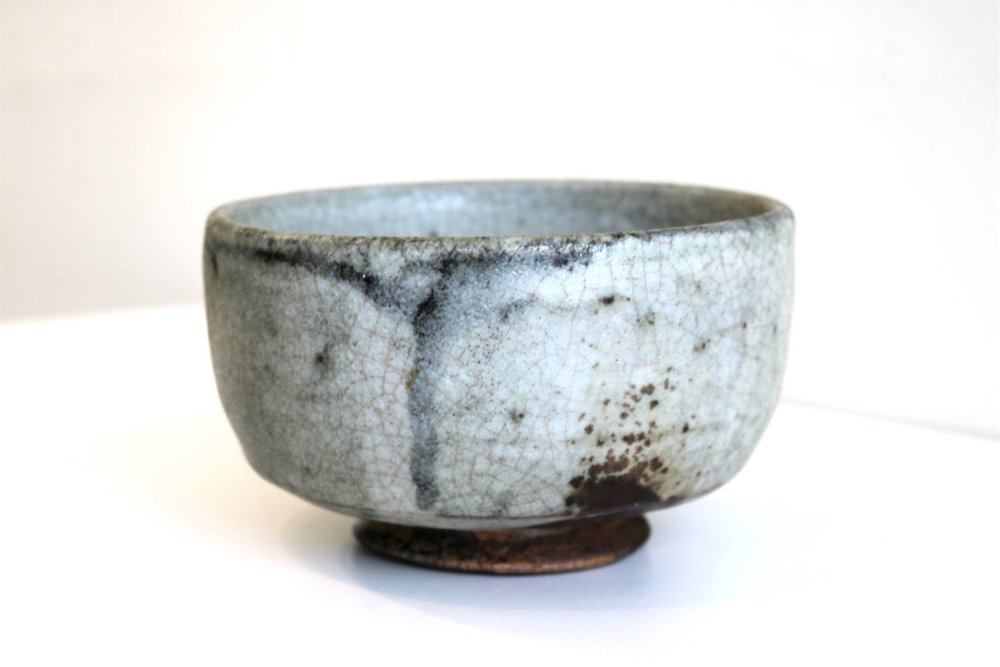 Kirk Winter 20.  Feldspar Bowl,  2003, wood fired stoneware, Yuri's clay and kiln SOLD