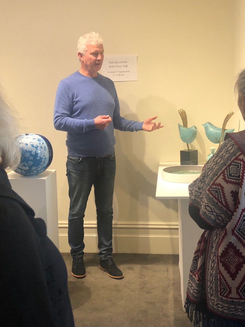 Ted Secombe, Exhibition Floor Talk, Skepsi @ Malvern Artists' Society Gallery
