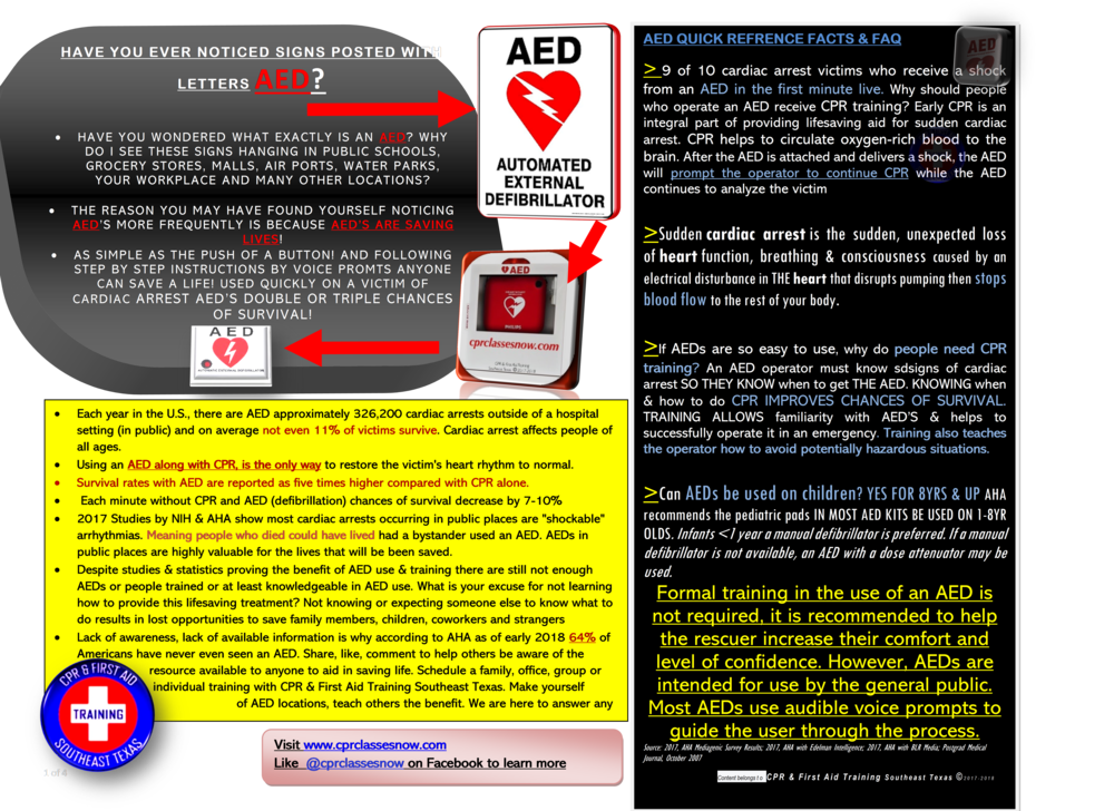 Notice an AED in your workplace? - Are you and others prepared to use it? Schedule a short in-service to find out the benefits of AED use.