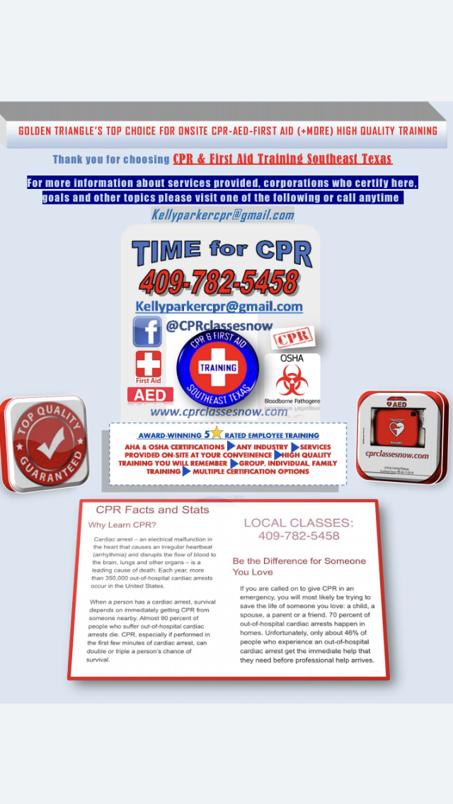 CPR & First Aid Training Southeast Texas