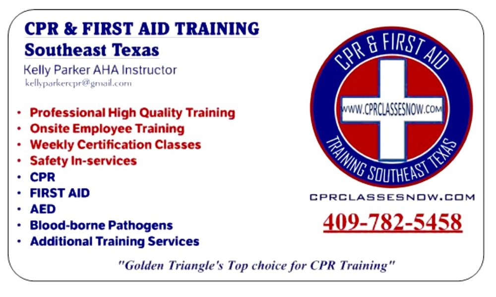 Southeast Texas Choice for CPR, AED & First Aid Training - High quality training you will remember.