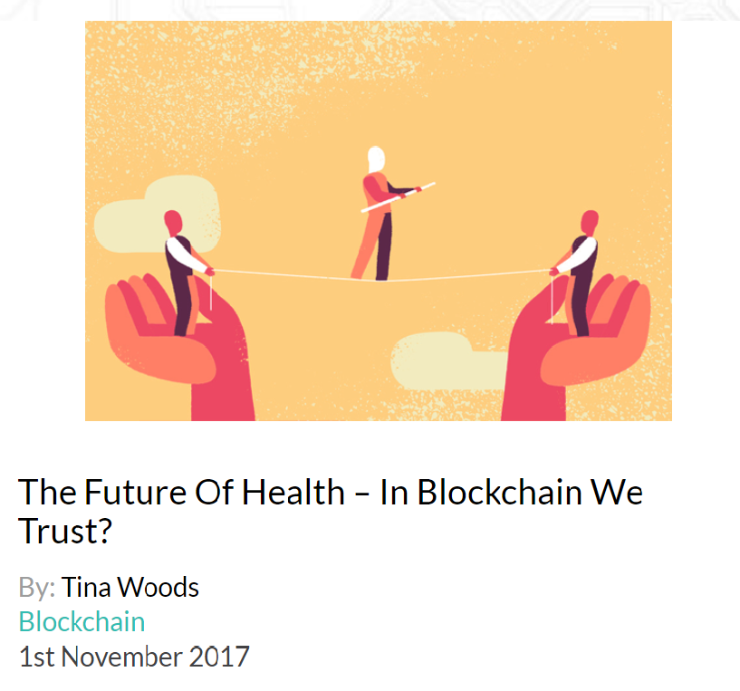 A REVOLUTION IN TRUST AND HOW WE CAN WORK TOGETHER   Trust is the foundation for business. Maintaining trust and corporate reputation is expensive, time-consuming, and often very inefficient. Blockchain technology has been hailed as a solution to protect trust, and could be a revolution in the way everyone —businesses, governments, organizations and individuals—work together. Published in D/SRUPTION on 1st November 2017.  Click  here.