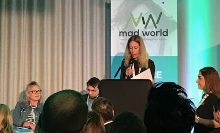 MAD WORLD SUMMIT, TECH TALK SESSION, LONDON, 9 OCTOBER 2018   At the recent Mad World Forum in London, various mental health focused companies presented their innovative solutions to meet emerging needs, including increasing numbers of digital natives entering the workforce, and the imperative to support the older generation retiring later. Tina was on the Mad World Advisory Board and chaired the Tech Talk session, in which ten companies pitched to a panel of judges including Alan Greenberg (Founder of Wideacademy), Chris Tomkins (Head of Proactive Health, AXA PPP Healthcare), Karen Rivoire (Mentor @ Microsoft Reactor), and Dr Gifty Jonas (Consultant occupational health physician and Medical Director for R & D at GSK) in their bid to win the 'Tech Talks Digital Innovation Award'. The companies were asked what was different about their product or service and how it could address employers' and employees' mental health and wellbeing challenges in the workplace. They were assessed using criteria including market need, calibre of innovation, user experience, sustainability and social impact. Unmind was the winner. See the full report  here .