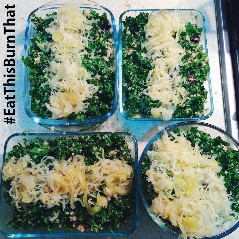 #MEALPREP - Quinoa Cranberry Kale Salad