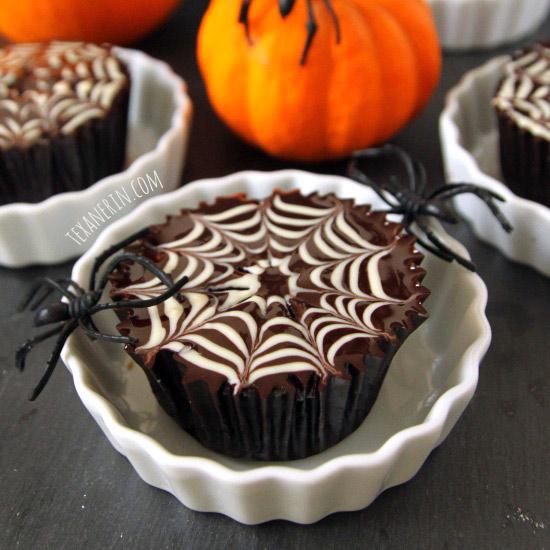 Gluten Free Spiderweb Cupcakes