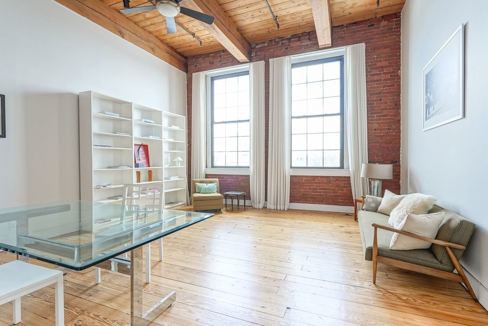 Old City industrial loft with plenty of brick and beam