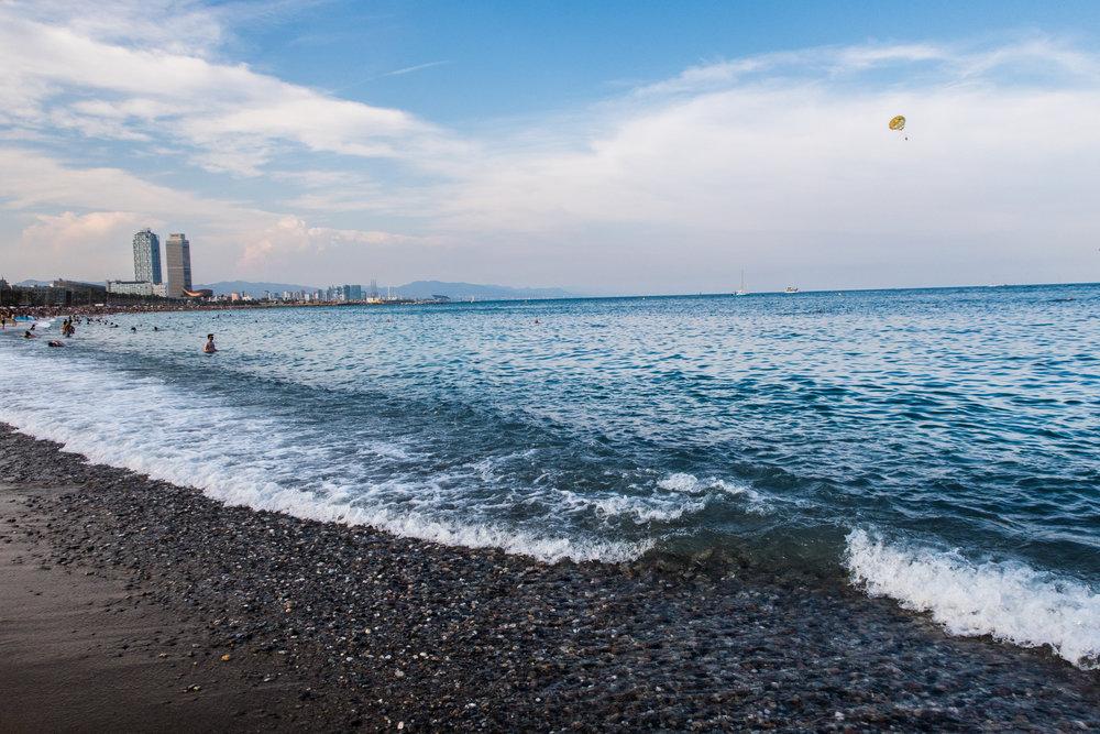 Amazing blue sea!