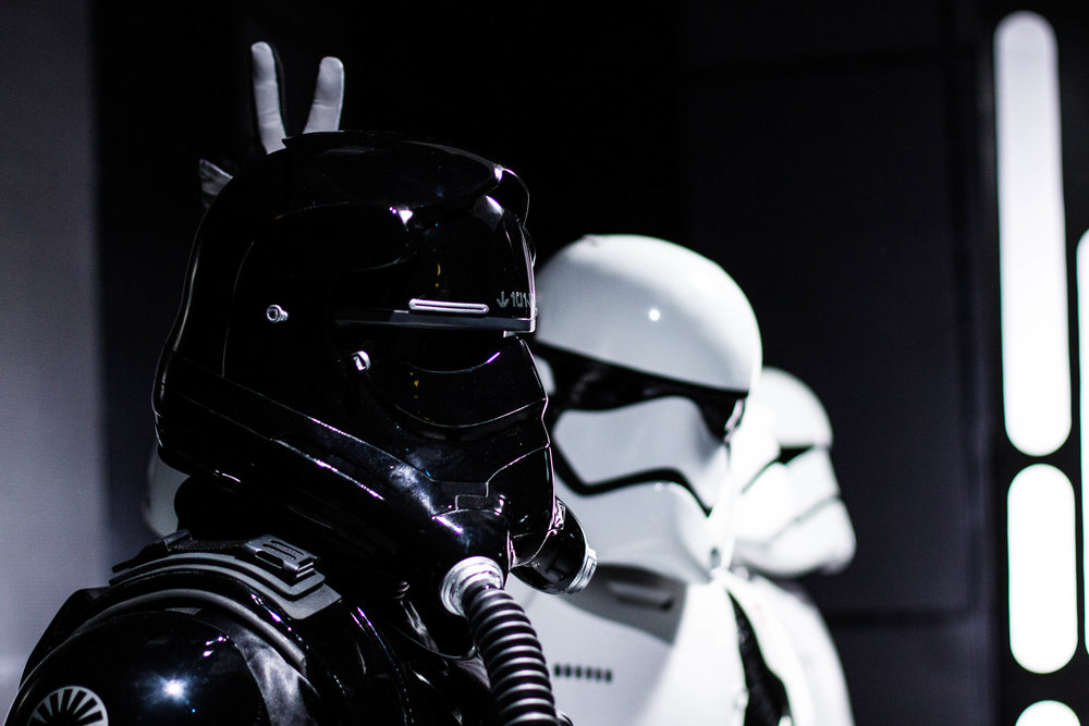 A behind the scene shot of the cheeky stormtroopers from Padawan Rising!