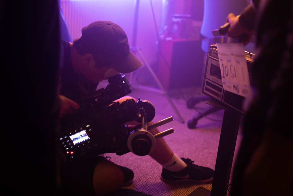 DOP getting the shot on short film Connective tissue.