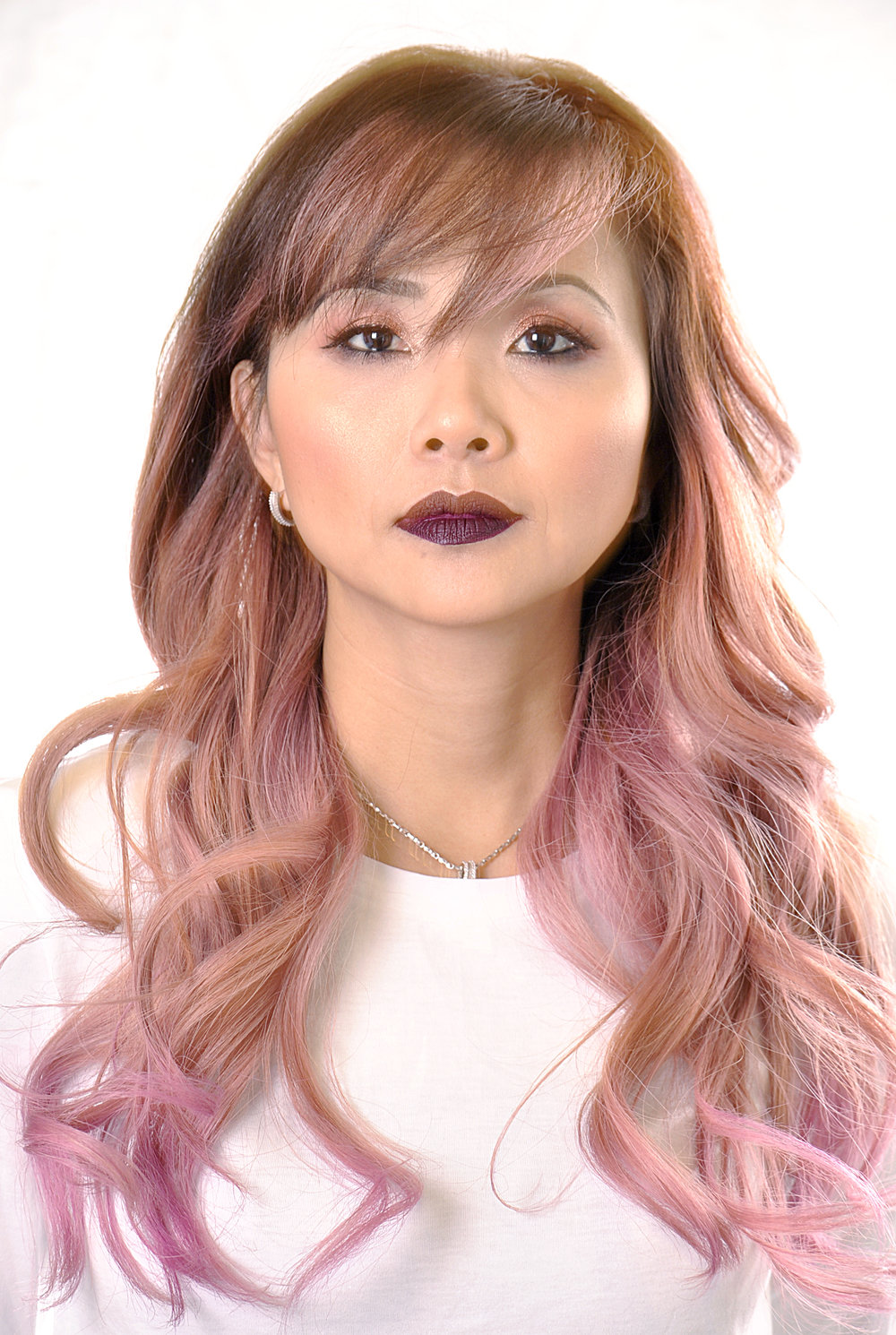 Mermaid Makeover From Melted Dark Rosy To Peach And Cotton Candy Pink.