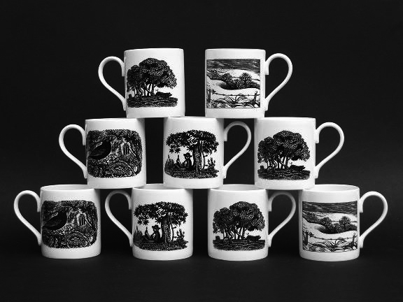 The mugs are printed in the UK.  Size 8.5 cm high