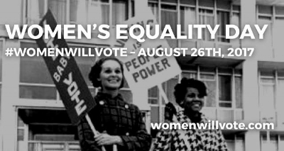 On August 26th, 1920 women finally won the right to vote with the addition of the 19th Amendment to the US Constitution. To commemorate this day, Congress established Women's Equality Day to celebrate women's continuing efforts to fight for justice and progress.