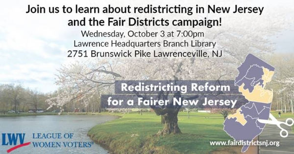 Redistricting in NJ and the Fair Districts campaign — GRB