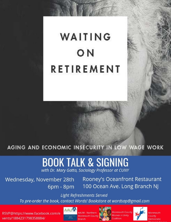 book talk and signing waiting on retirement with dr mary gatta