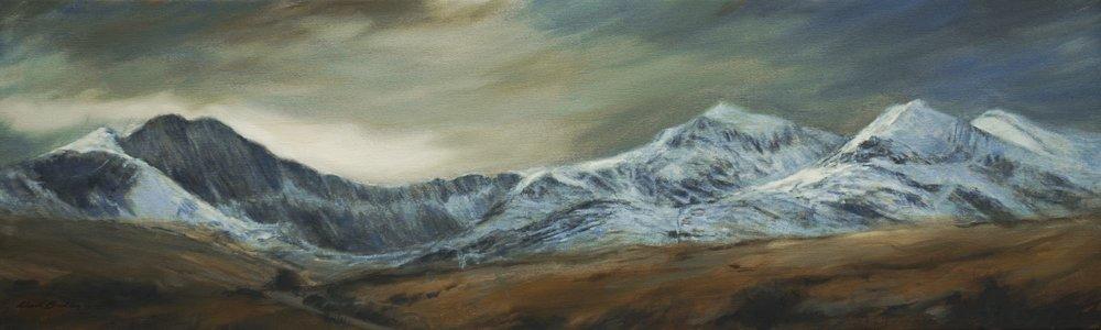 Snowdon Horseshoe in Winter (oil on canvas, 2010)