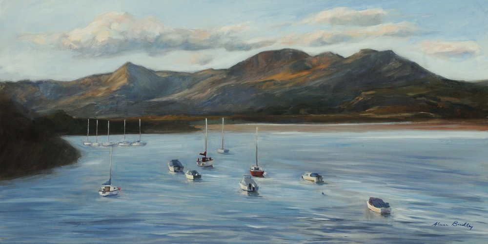 Evening Light, Borth-y-Gest (oil on canvas, new, 2018)