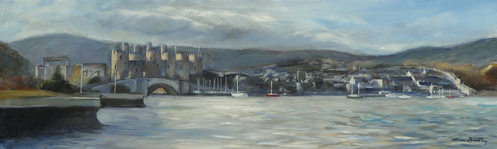 Winter Light, Conwy (oil on canvas, new, 2018)