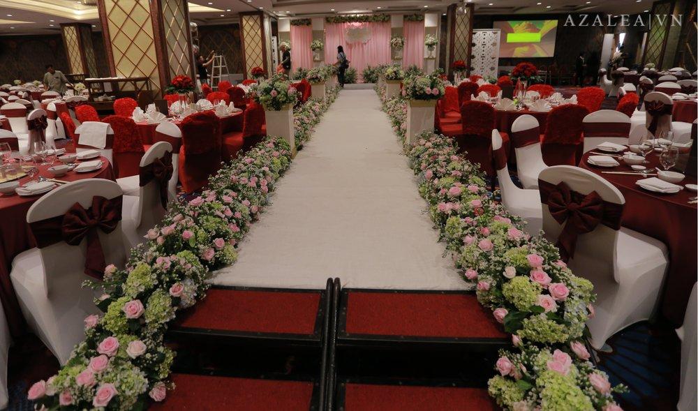 Trang trí tiệc cưới Lối đi