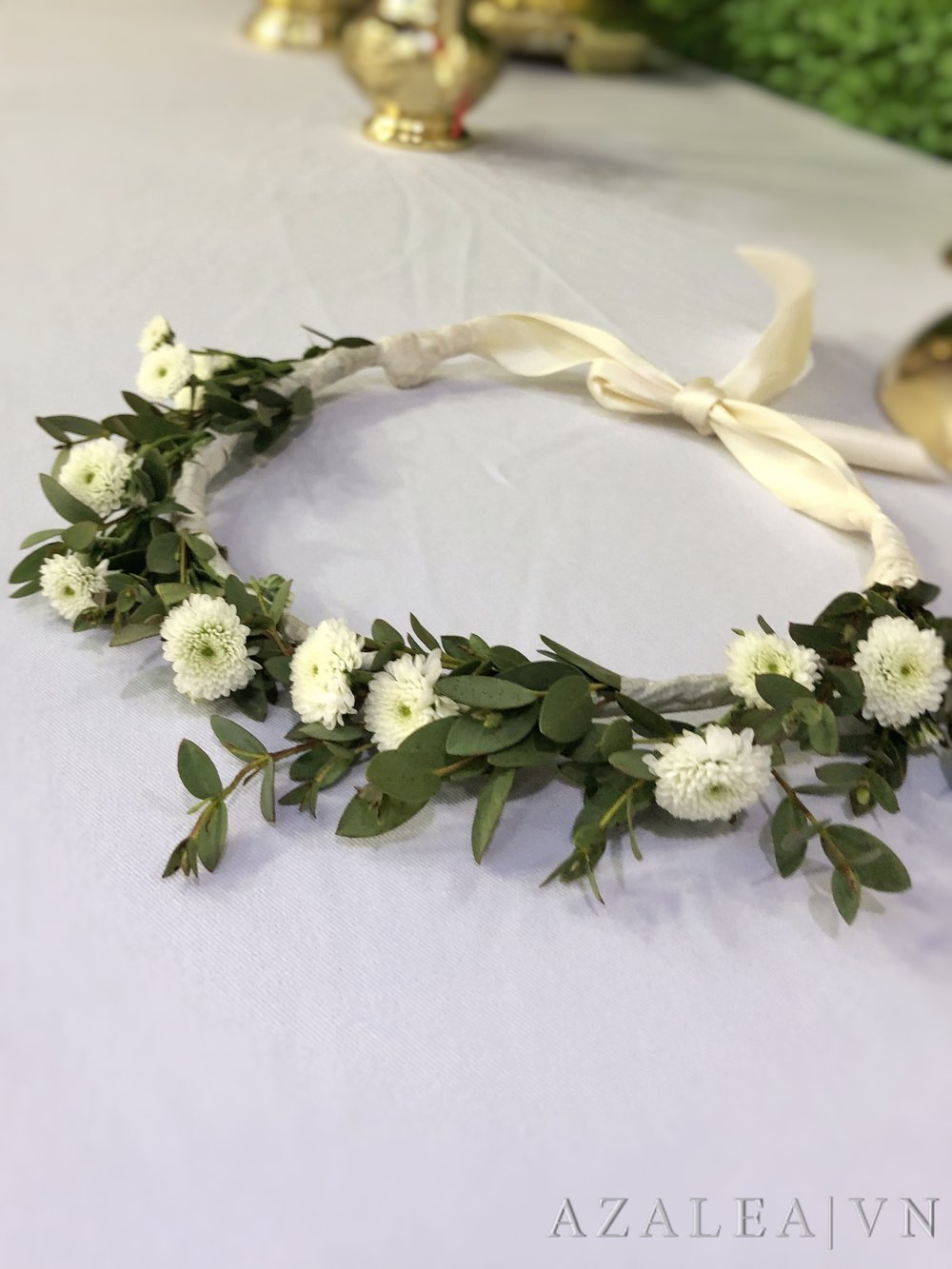 Trang trí tiệc cưới Vòng hoa tóc