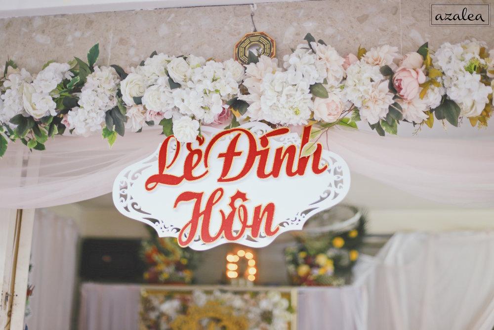 Trang trí tiệc cưới cổng hoa Nhà gái