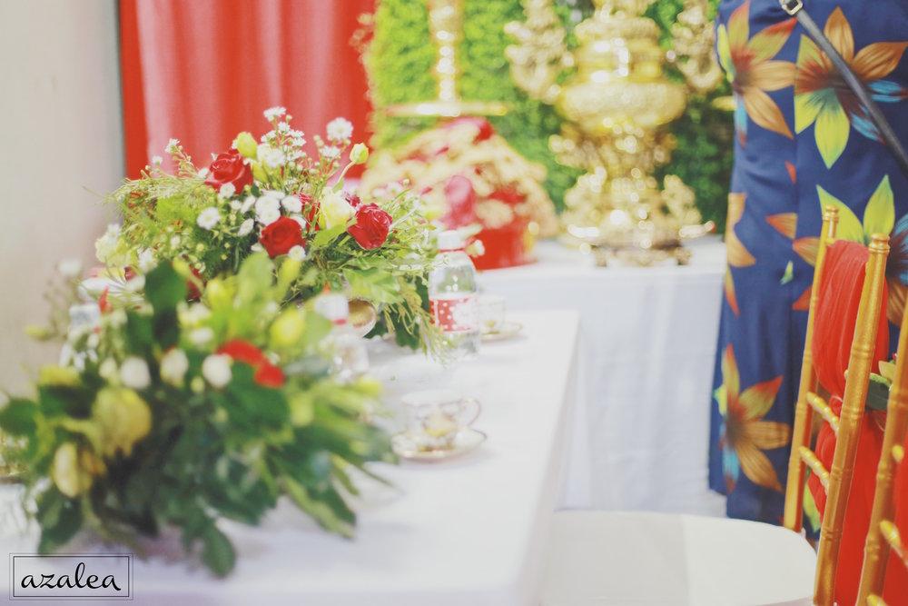 Trang trí tiệc cưới Bàn gia tiên Nhà trai