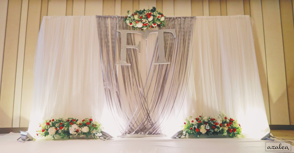 Trang trí tiệc cưới Backdrop