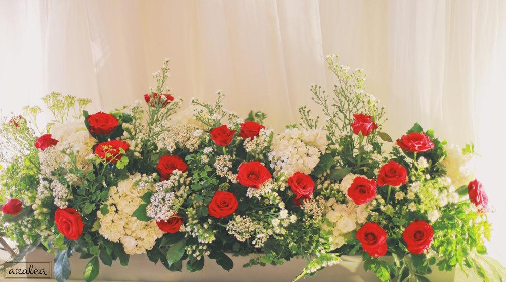 Trang trí tiệc cưới Hoa của backdrop