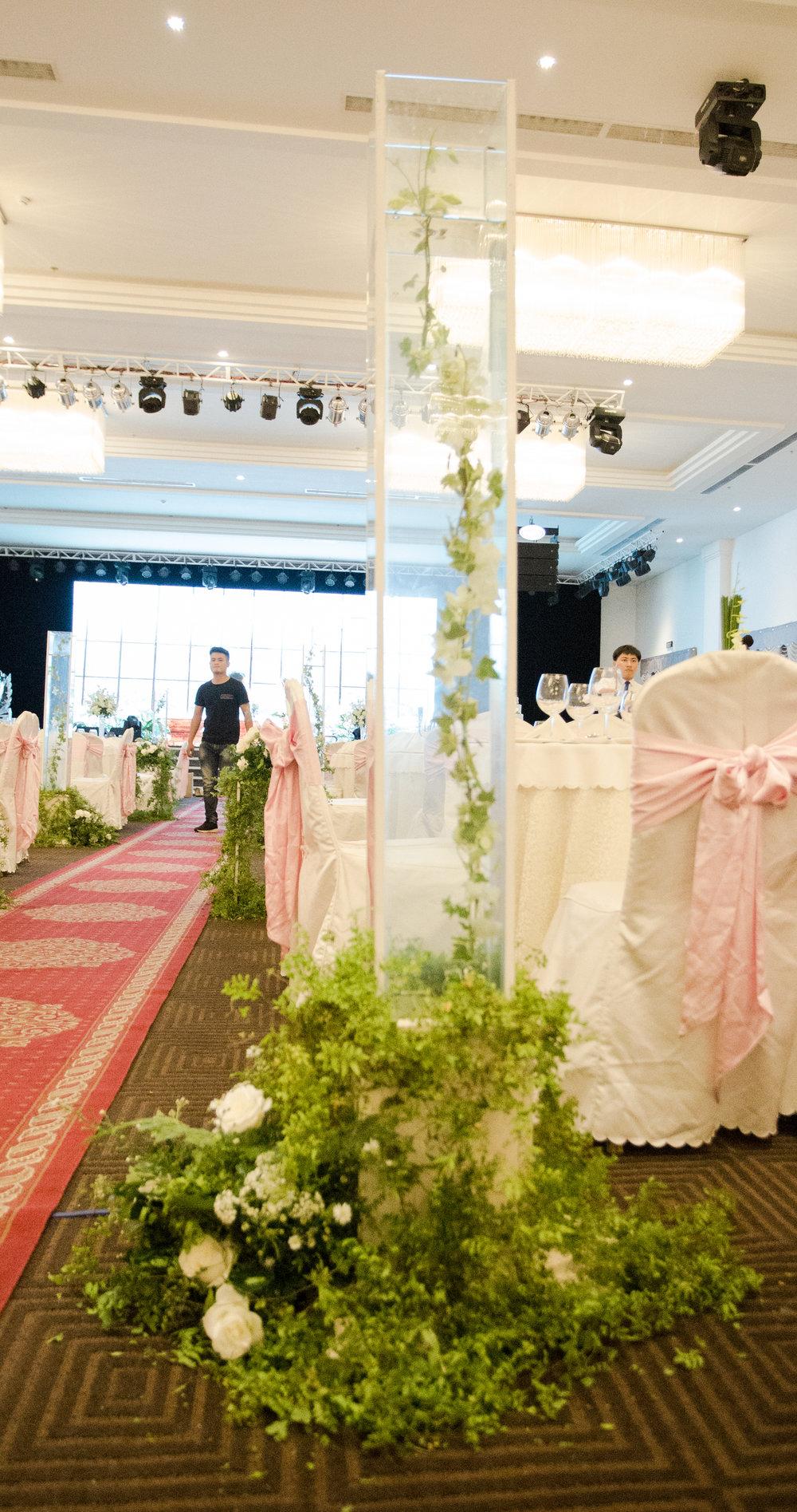 Trang trí Lối đi sân khấu đám cưới