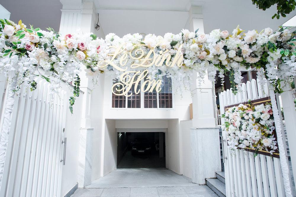 Trang trí cổng hoa Lễ đính hôn