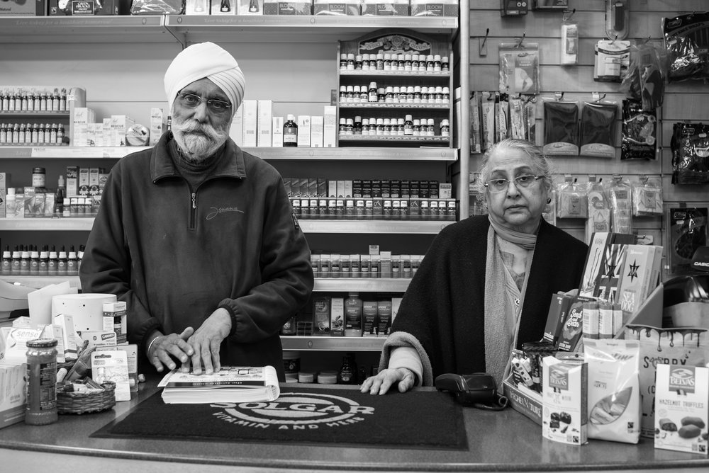 Mr and Mrs Singh Soor; 46 years on the High Street