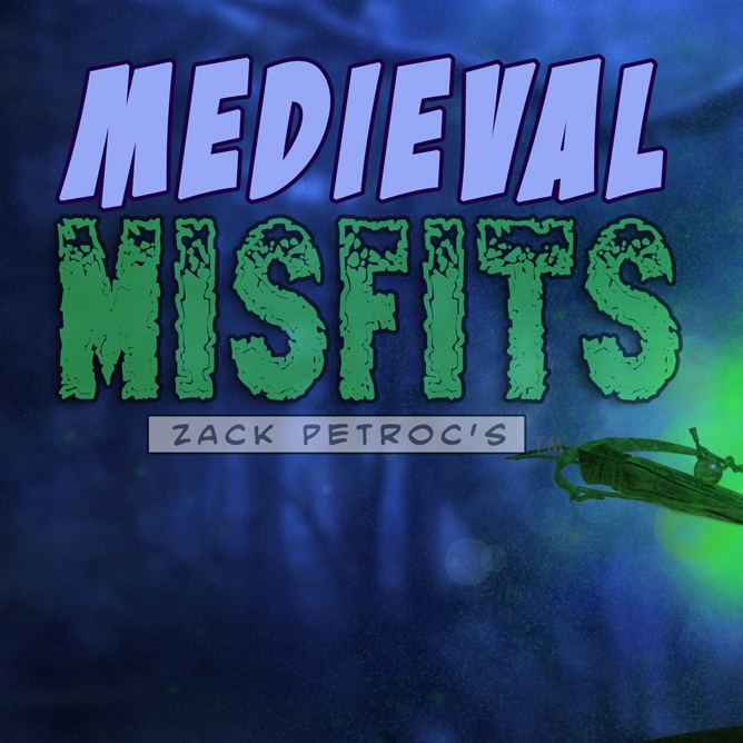 MEDIEVAL MISFITS A ragged band of medieval kids must choose between religious salvation, and using outlawed weapons of alchemy, to save their town from giant creatures.