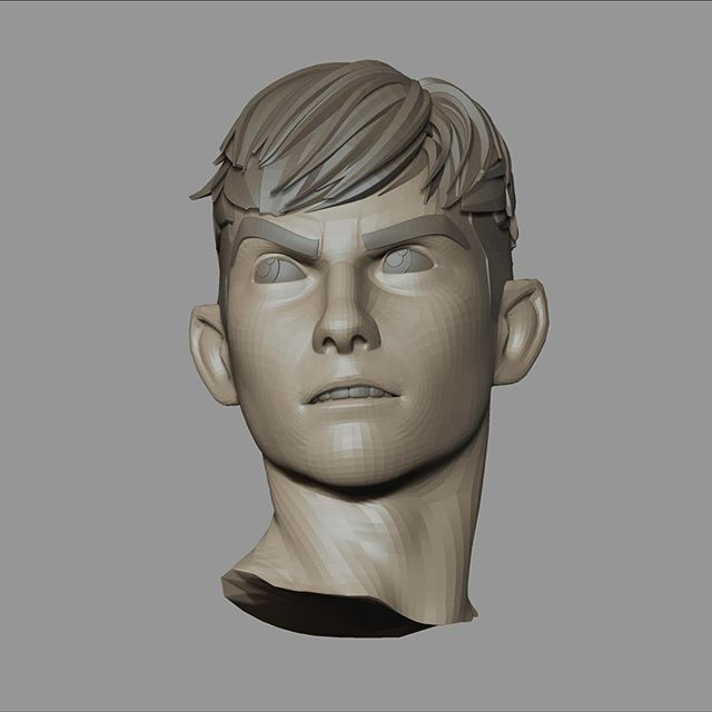 Also working on posing this sculpt of Reeve from #Attaboy for the #zbrushsummit. Oh, so much to do!