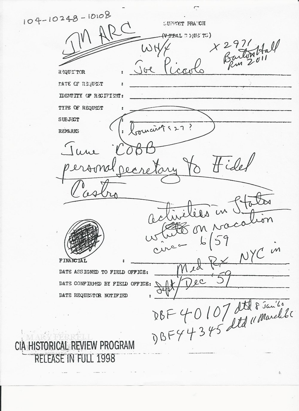 image 7.jpeg [Piccolo memo re Cobb summer 1960 travel to U.S.].jpg