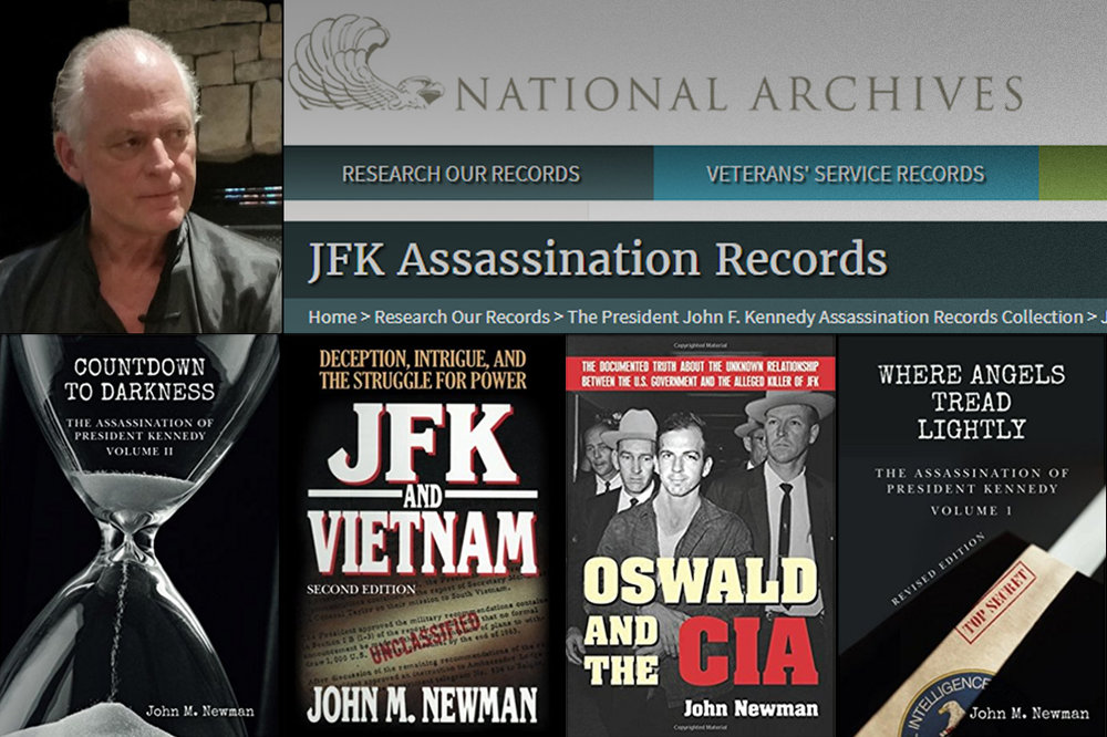 Dr. John M. Newman author of Countdown to Darkness, JFK and Vietnam, Oswald and the CIA, Where Angels Tread Lightly and more. Photo credit: CreateSpace Independent Publishing Platform and Skyhorse Publishing