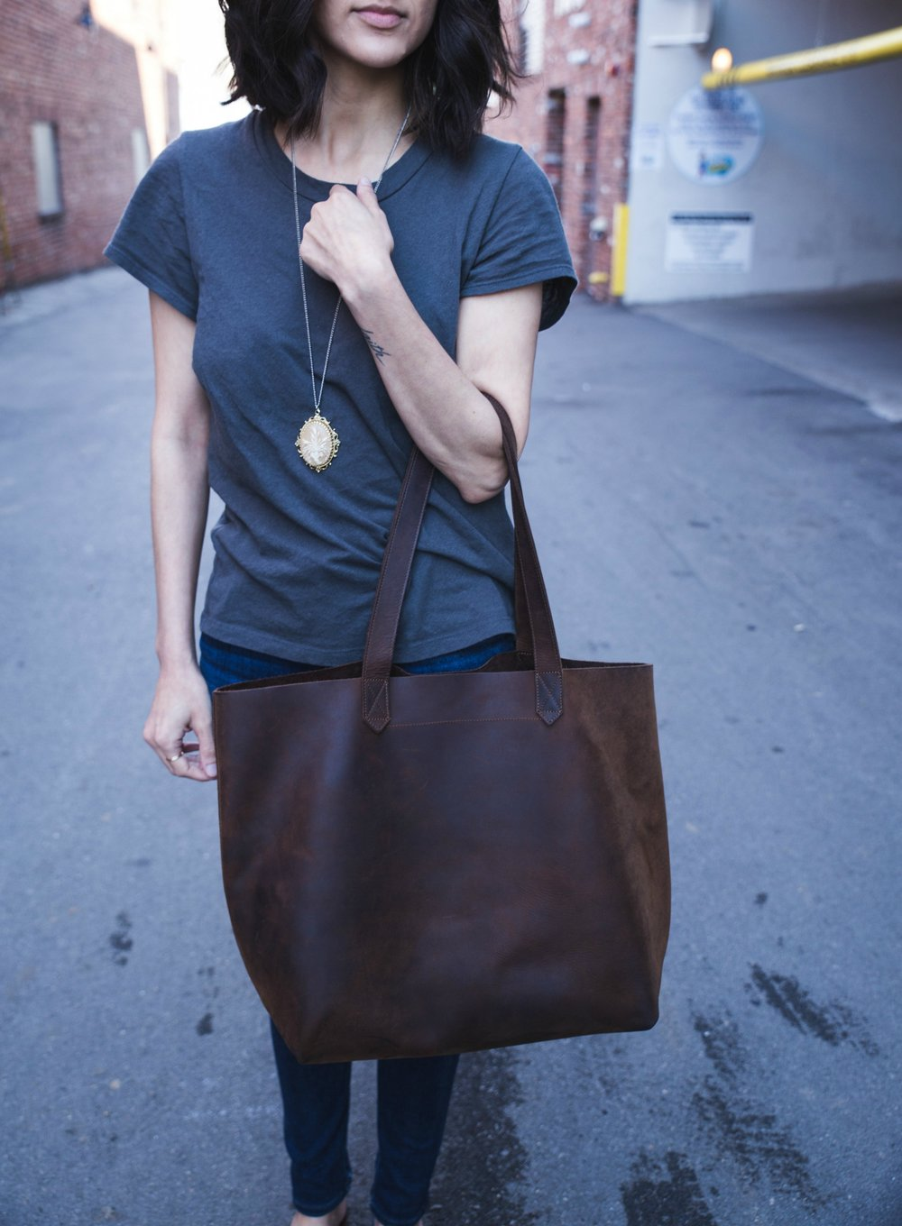Pictured: Lori Tote in Oak