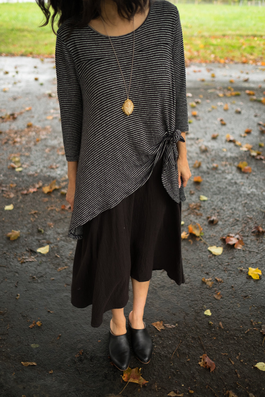 Day 8 - top: old Anthropologie dress: Esby Lyla slip dress shoes: Nisolo Mariella mule