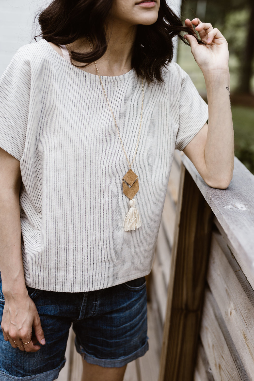 Wearing: Two Fold Krissy tee and  Sela Designs Belle Necklace