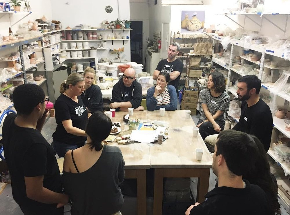 Ruth teaching at Good Dirt Pottery, Los Angeles