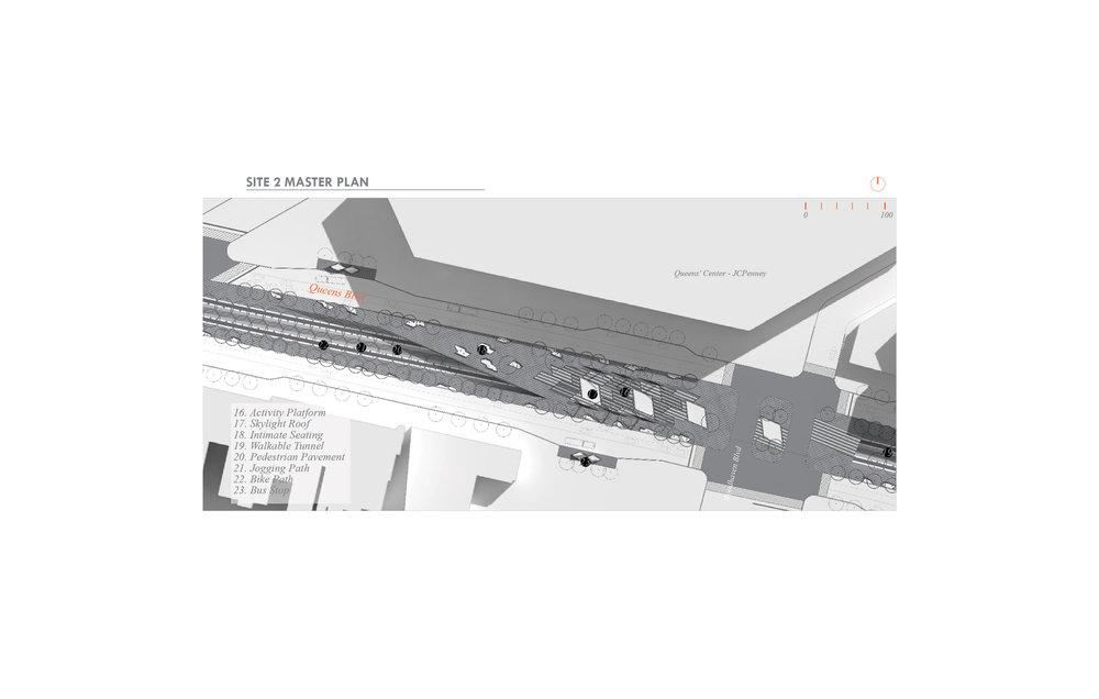 #Site2Plan #MASTERPLAN #QueensCenter #TunnelSkylight