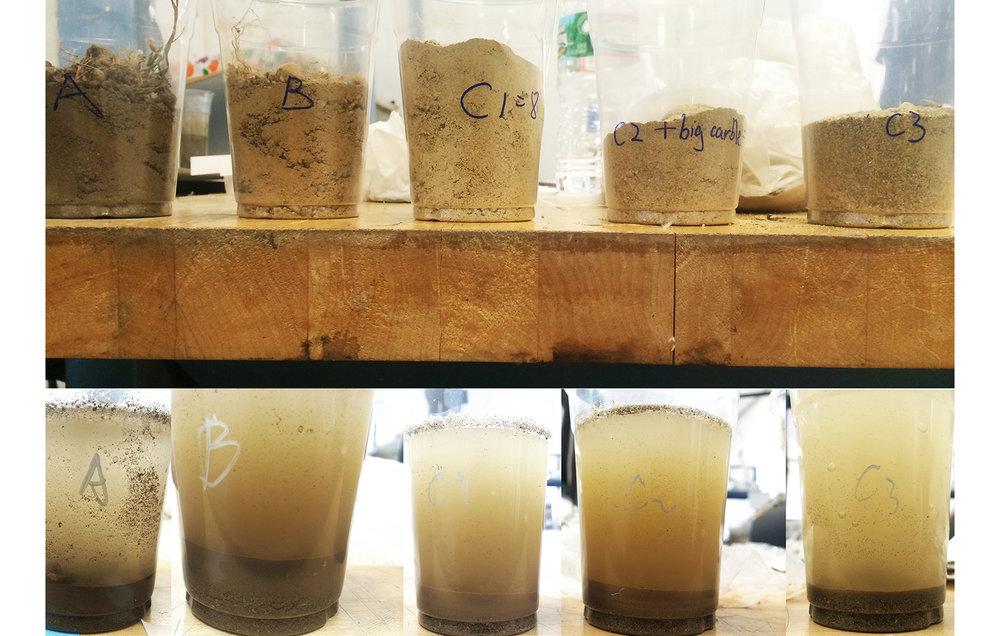 """5th Hole""Soil Sample Layer Study"