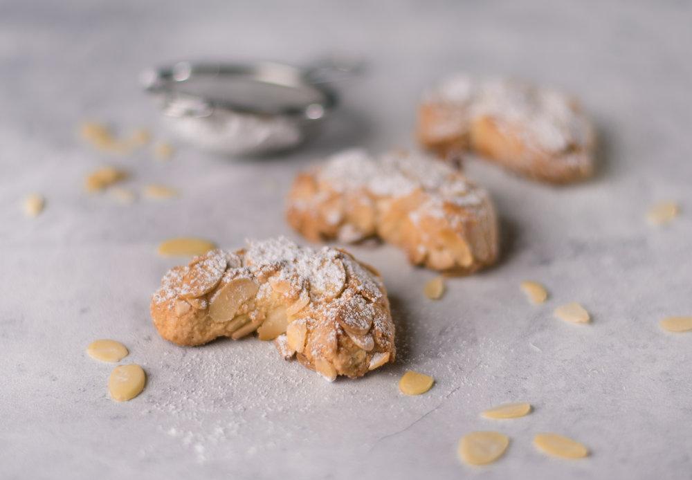 Almond Half-Moon Petit Fours.
