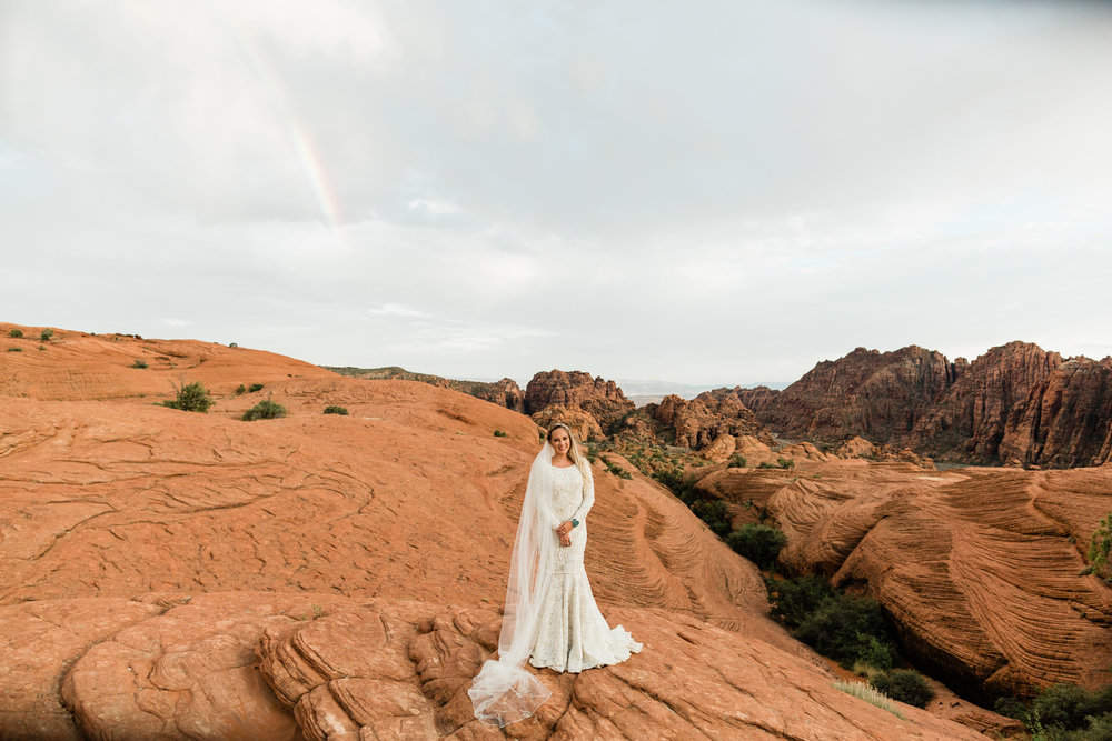 Snow Canyon Bridal Session