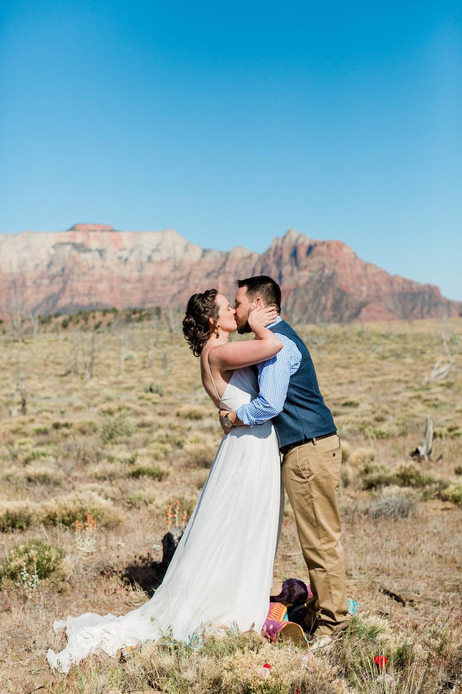 Zion Wedding in a field